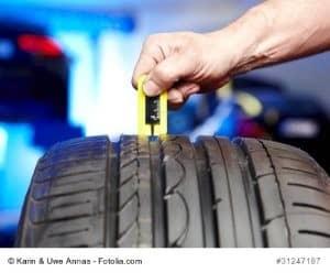 Profiltiefe Reifen