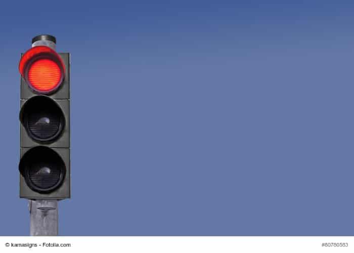 punkte rote ampel überfahren polizei